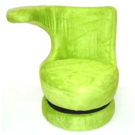 扶手造形360度旋轉沙發椅^(兒童座椅^)淺綠色~YE20702