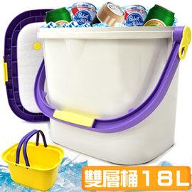 多用途18L冰桶 J17-3 18公升冰桶行動冰箱攜帶式冰桶釣魚冰桶洗車水桶儲水桶保冰桶冰筒保冷桶保冰箱保冷箱載重桶收納桶冷藏箱保溫桶保溫