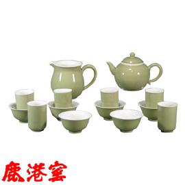 色釉茶具組^~湖綠101~3003
