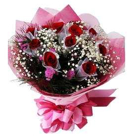 ^(A~42^)情人節快樂^~花公子花禮送到家^~11朵巴黎戀人紅玫瑰花束 799元