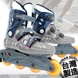 台灣製造 高彈跳直排輪P005-18溜冰鞋旱冰鞋滑冰鞋.滑鞋滑輪鞋風火輪競速鞋.兒童成人成年可調直排.極限戶外休閒運動.專賣店推薦哪裡買