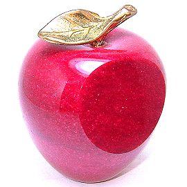 紅色大理石蘋果 文鎮