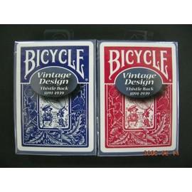 撲克牌 BICYCLE 808 復古 Vintage THISTLE 背紋