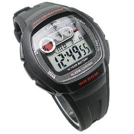 CASIO卡西歐 W~210~1C 電子錶 簡易 橡膠 黑色 40mm 鬧鈴 碼錶 倒數計