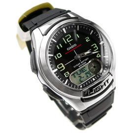 CASIO卡西歐 雙顯錶 黑面 黑色橡膠 40mm 鬧鈴 碼錶 倒數計時 世界時間 時間