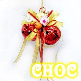 叮叮噹雙鈴噹 聖誕裝飾 吊飾 飾品 → 花店