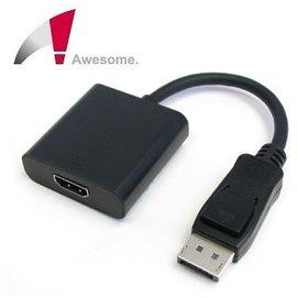 ^~ 中將3C ^~  Awesome DP公 to HDMI 母轉接器 ^( 終身 ^)