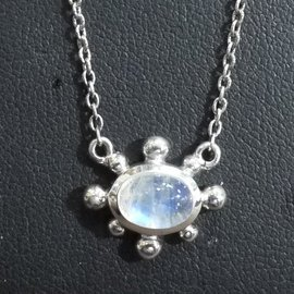 ~La luna 銀飾豐華~古典線條環繞波羅的海天然蜜蠟琥珀純銀墜子  P2915