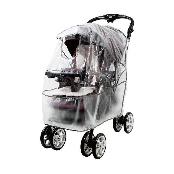 使用方法: 将防雨罩罩入婴儿车后,由上而下依序使用 毡扣固定於婴儿车