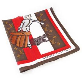 Louis Vuitton 《限定版》門僮方型圍巾