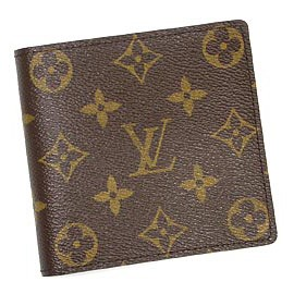 Louis Vuitton M61675 Monagram折疊短夾.小