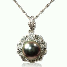 ~母親節快到囉 爆單中 請提早訂講喲~■■~小樂珠寶 ~10mm南洋深海貝珍珠墬子~孔雀綠