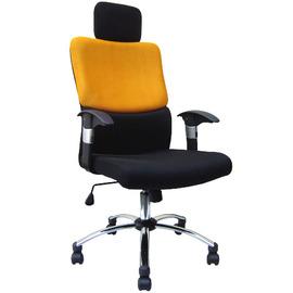 大型^~雙彩高背^~主管~辦公椅^~鍍鉻鋼管腳^~~PL~F9706B加贈坐墊^~1