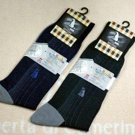 竹炭條紋紳士襪 抗菌消臭 製 LIGHT DARK