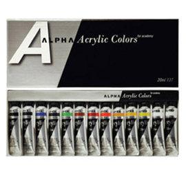 ALPHA壓克力顏料盒裝20cc13色組^~B0323~2