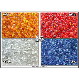 ~魚舖子~亮彩琉璃石^^^^ 鑽石紅、橘紅色 2種顏色^(零售1公斤起^)∼ 賣、均一價
