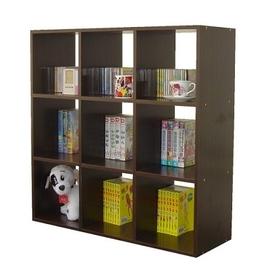 【愛家】9格(無背板)收納櫃/書櫃(二色可選)-W309E