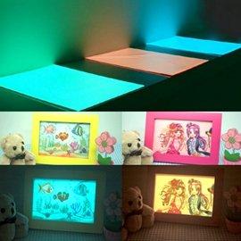 ~紙工藝術與超亮夜光的完美展現~超亮夜光紙A4綠光^~5張 Glow in the Dar