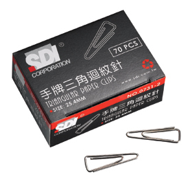 【SDI 】手牌 #0731B 三角迴紋針  25.4mm  10小盒入  大盒