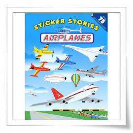 ~故事貼紙書之交通工具篇~Sticker Stories:Airplanes