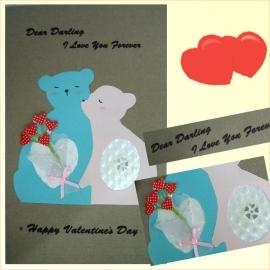 *情人節特選*手工卡片【。親親我的寶貝。】