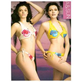 夏-兩件式比基尼女泳裝.運動E999-7123