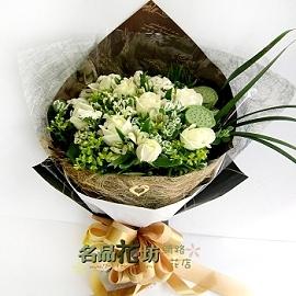 情人的愛高雅白玫瑰