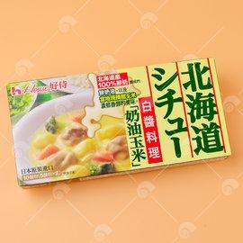 【艾佳】好侍北海道白醬料理塊(奶油玉米)180公克/盒