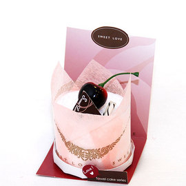 【花現幸福】櫻桃牛奶蛋糕毛巾出清價50元  蛋糕毛巾  婚禮小物  姐妹禮  生日禮