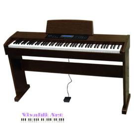 松井電鋼琴 鋼琴550高貴原木色 附譜架腳架升降琴椅可USB電腦連線可踏板教學VCD 一年