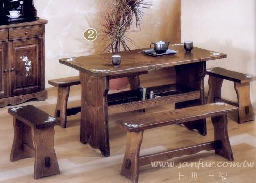 *上福家具~ 彩绘童话般的.玛格莉特原木餐桌.餐椅 *