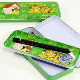 【Hi~GARFIELD】加菲貓鐵製雙層鉛筆盒