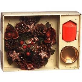 【X`mas專櫃精品】超級聖誕禮物~~5.5吋典雅花圈禮盒