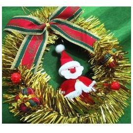 ★聖誕特選★精緻聖誕裝飾~黃金聖誕花圈