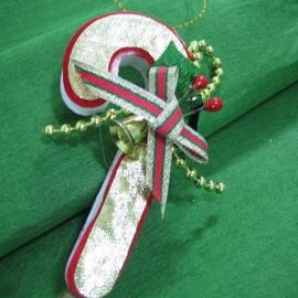 ★聖誕特選★精緻聖誕裝飾~金色拐杖