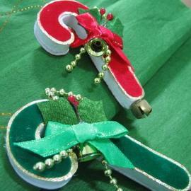 ★聖誕特選★精緻聖誕裝飾~精緻拐杖(2入)