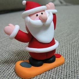 【X`mas】手工聖誕吊飾--滑板聖誕老公公