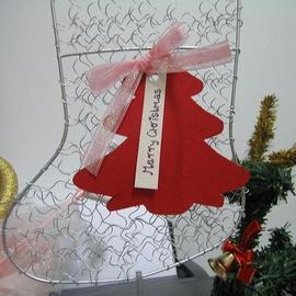 手工耶誕卡【幸福1號聖誕樹=紅】