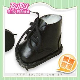 淘淘 人形布娃娃 厚底鞋帶黑短靴