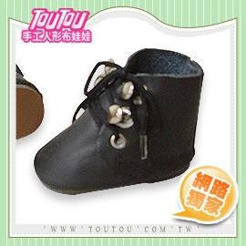 淘淘 人形布娃娃 鞋帶黑短靴