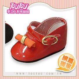 淘淘 人形布娃娃 橘色蝴蝶結紅皮鞋