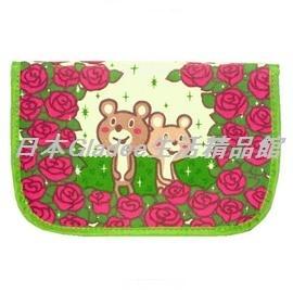 Gladee玫瑰小熊,萬用袋 收納袋 皮夾 護照夾 收納夾!