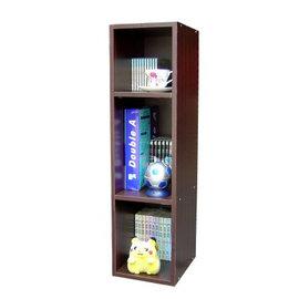 [小型]15mm厚(美背式)3層間隙書櫃/置物櫃-W243-DW