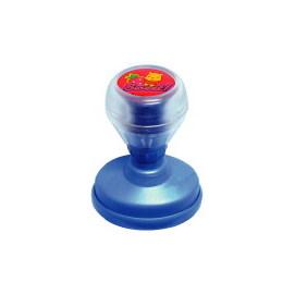 35×50mm CUTIES 維尼熊橢圓形彈簧卡通章~珠光藍~~規格6~
