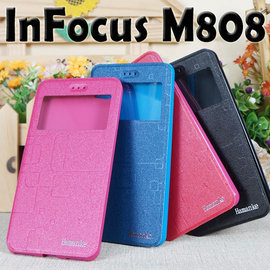 【熱銷款 】富可視 InFocus M808/M560 簡約視窗手機皮套/保護套/側掀保護套/斜立展示支架保護殼