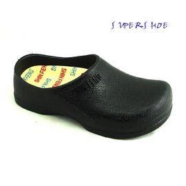 SHIN FENG 荷蘭鞋/前包柏肯拖鞋/廚師鞋/勃肯鞋/191黑
