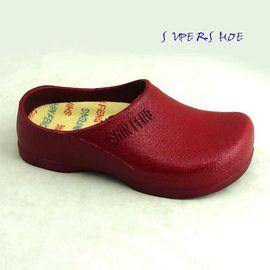 SHIN FENG 荷蘭鞋/前包柏肯拖鞋/廚師鞋/勃肯鞋/191紅