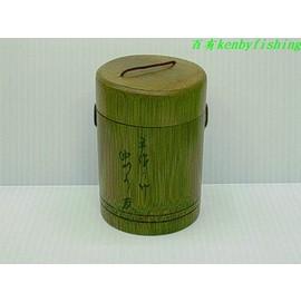◎百有釣具◎日本品牌 NAKAZIMA 1231 竹製圓虫盒~好用質感佳
