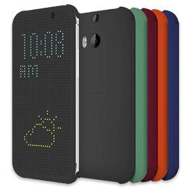 【原廠皮套、原廠公司貨】The All New HTC One M8 Dot View 炫彩顯示皮套/側掀手機保護套/保護殼 Dot View HC M100