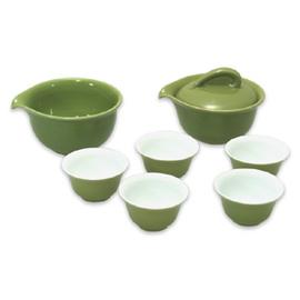 湖綠釉大旅行用茶具組